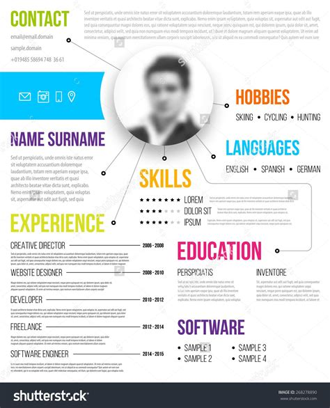 Infographic Resume Builder by Template 4 Resume Templates Infographic Resume