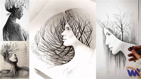 Personify Mother Nature Pencil Drawings Amazing