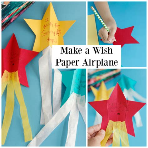 shooting wishes craft make and takes 810 | Making a Shooting Star Wish Paper Airplane