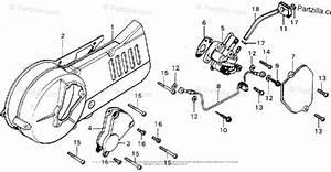 Honda Motorcycle 1976 Oem Parts Diagram For Left Crankcase