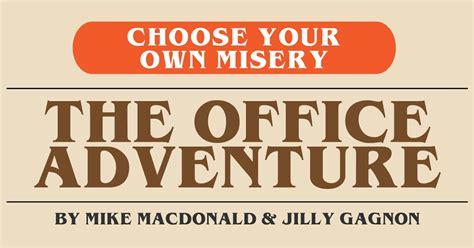 Book Review 'choose Your Own Misery The Office Adventure