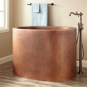 48, U0026quot, Raksha, Copper, Japanese, Soaking, Tub, -, Japanese, Soaking, Tubs, -, Bathtubs