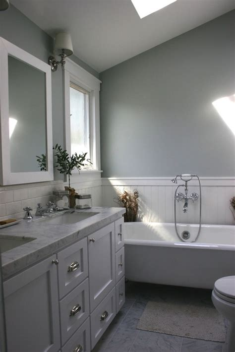 bathroom sloped ceiling transitional bathroom
