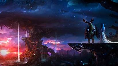 Warcraft Elf Wallpapers Knight 4k Backgrounds Digital