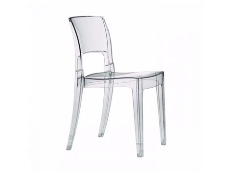 chaise polycarbonate transparente isy polycarbonate chair by scab design design roberto semprini