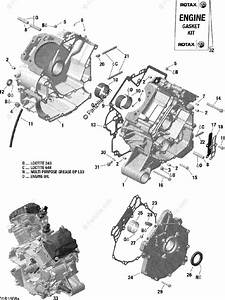 Can-am Atv 2016 Oem Parts Diagram For Crankcase
