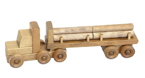 large log truck wood toy amish handmade tractor trailer