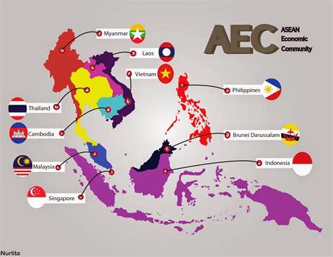 Gambar Peta Buta Asean Printablehd Negara Pembelajaran Online World Map