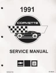 motor repair manual 1987 pontiac gemini instrument cluster 1991 chevrolet corvette factory service manual reproduction