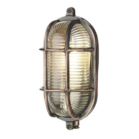 copper oval bulkhead wall light ip64 fitting for lighting