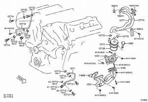 2007 Toyota Sienna Engine Coolant Hose  Upper