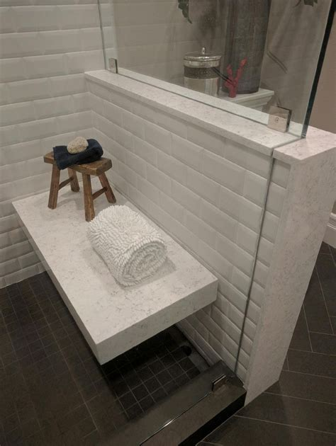 victoria quartz   great shower bench