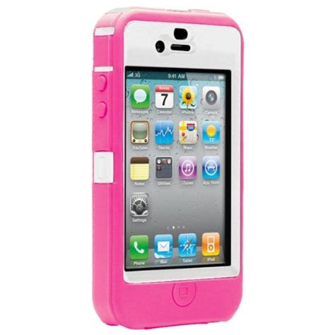 otterbox for iphone 4 otterbox defender for iphone 4 white pink retail