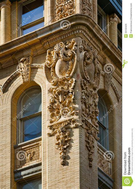architectural detail of a soho building facade ne royalty