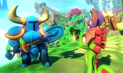 yooka laylee npcs include shovel knight vg