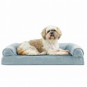 furhaven plush suede orthopedic sofa pet bed deep pool With furhaven plush sofa pet bed