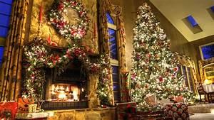 wallpaper new year fireplace decor fir tree