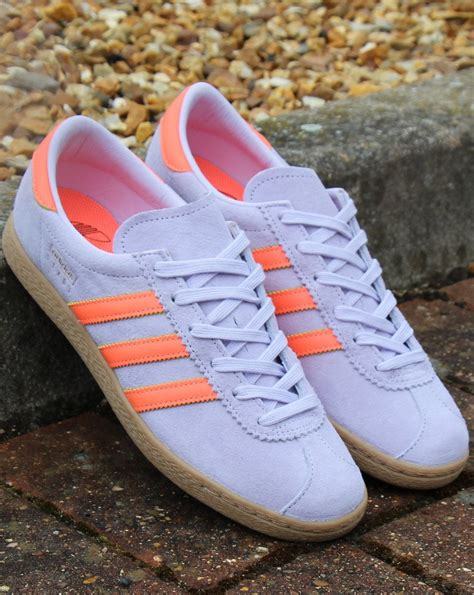 Adidas Stadt Trainers Purple Tint/Coral - 80s Casual Classics