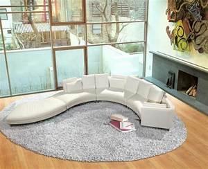 le canape d39angle arrondi comment choisir la meilleure With tapis moderne avec canapé en cuir design