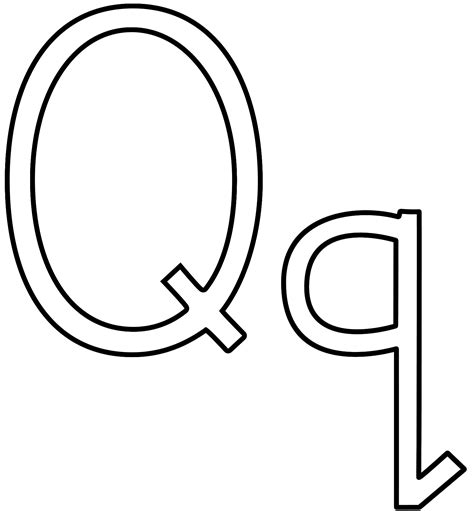 with letter q letter q coloring pages and print for free Words