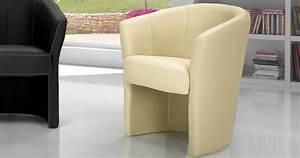 Cabriolet Fauteuil : petit fauteuil alba cuir ou microfibre ~ Melissatoandfro.com Idées de Décoration