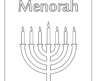 colouring worksheet menorah