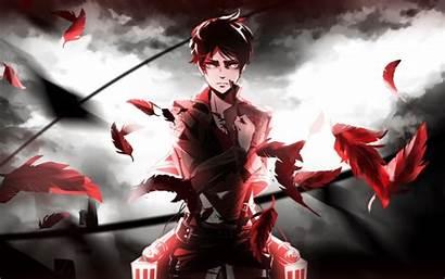 Titan Eren Attack Anime Jaeger Salute Shingeki