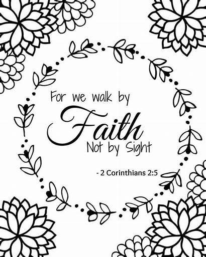 Coloring Bible Printable Verse Faith Christian Sheets