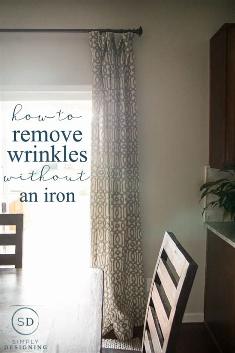 how to get wrinkles out of curtains how to get creases out of curtains without using an iron