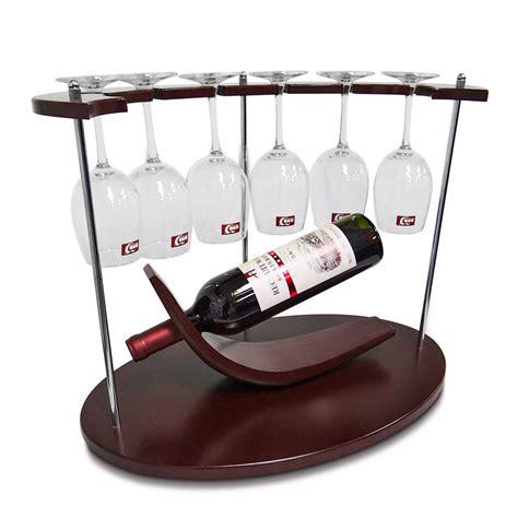 amznevo  small wine rack  glass holder unique