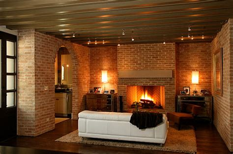 modern brick fireplace design 18 cozy rooms with modern style Modern Brick Fireplace Design