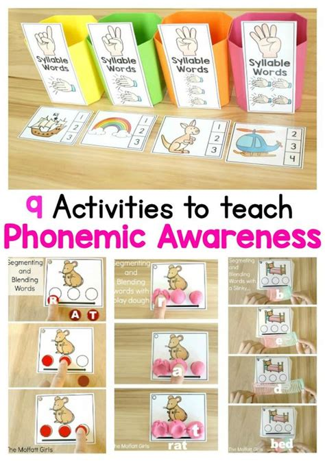 phonological awareness activities preschool phonemic awareness is such an integral part to reading and 31610