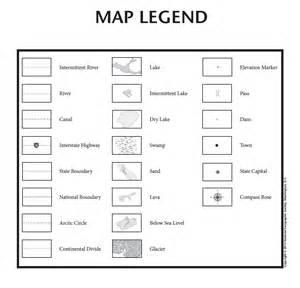 Map Legend Symbols for Kids