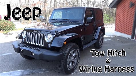 Jeep Wrangler Tow Hitch Wiring Harness Install