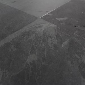 carrelage ardoise naturelle noire montauk 40x40 cm With carrelage sol ardoise