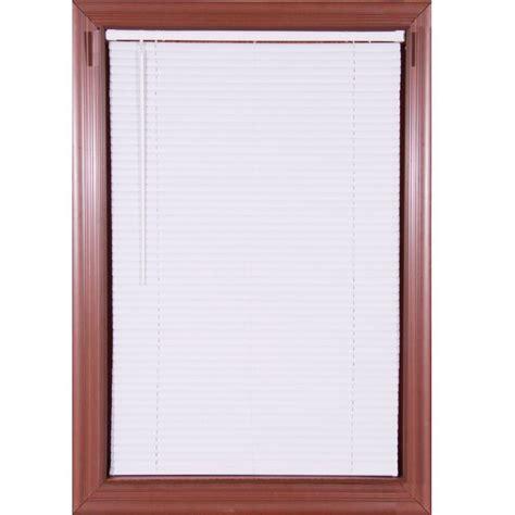 cordless vinyl mini blinds white cordless 1 in vinyl mini blind 72 in w x 64 in