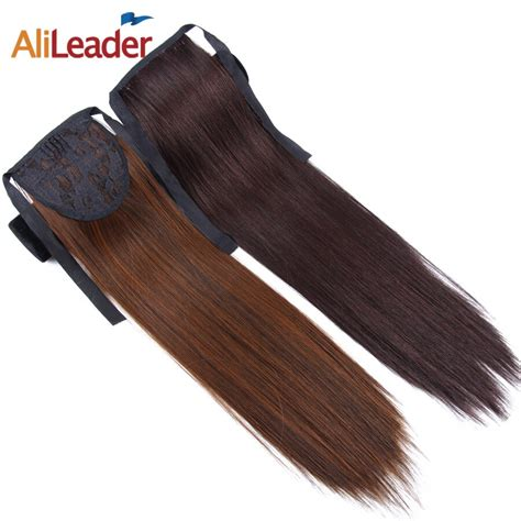 Alileader Straight Ponytail Claw Clip In Hair Extensions
