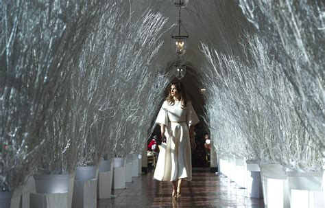 melania trump unveils white house christmas decorations time
