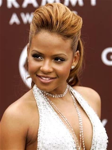 christina milian celebrity african hairstyles  black