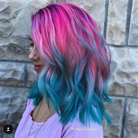 Now your hair is a brilliantly funky color! Pin on Vibrant Hair Color