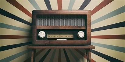 Radio Retro Early Station Days Altmodisch Holztisch