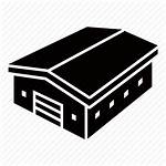 Warehouse Icon Building Commercial Garage Storehouse Icons