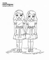 Twins Shining Coloring Lineart Adult Shinning Deviantart Jade Dragon Jadedragonne Colouring Illustrations Drawings sketch template