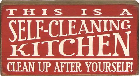 This Is A Selfcleaning Kitchen Clean Up After Yourself