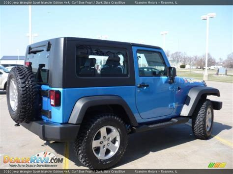 jeep grey blue 2010 jeep wrangler sport islander edition 4x4 surf blue