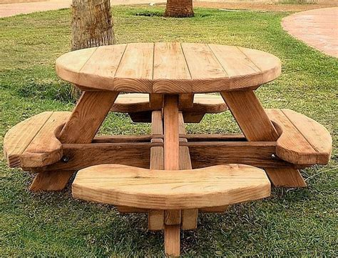 Best Round Wood Picnic Table Kitchen And Dining Tables