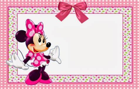 minnie mouse printable invitation template