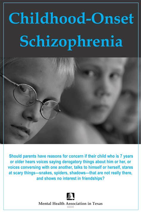 childhood schizophrenia symptoms   moms