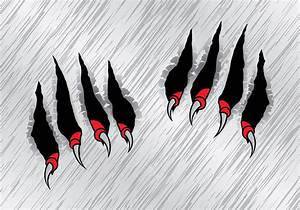 Red Claw Scratch Marks Vector - Download Free Vector Art ...