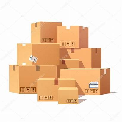 Boxes Pile Stacked Cardboard Illustration Goods Box